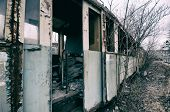pic of wagon  - Interior of an old abandoned railway wagon - JPG