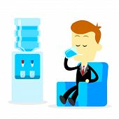 picture of  habits  - A Businessman Drinking A Glass of Fresh Mineral Water While Sitting on The Couch - JPG