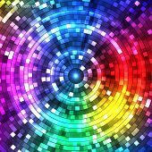 picture of color wheel  - Abstract Colorful circles Tunnel - JPG