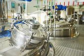 pic of manufacturing  - factory with pharmaceutical equipment mixing tank on production line in pharmacy industry manufacture factory - JPG