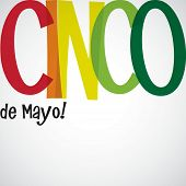 stock photo of mexican fiesta  - Bright typographic Fiesta card in vector format - JPG