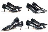 picture of black heel  - Photo of ladies black high heel shoes - JPG