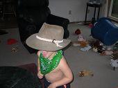 Cute Little Boy Wearing Hat And Bandana 2 poster