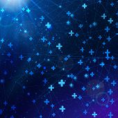 pic of cosmic  - Vector abstract cosmic background with plus symbols - JPG