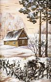 Small House In Pine Wood