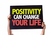 image of feeling better  - Positivity Can Change Your Life card isolated on white - JPG