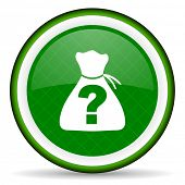 image of riddles  - riddle green icon   - JPG