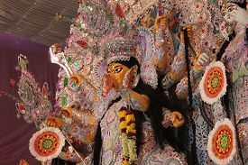 pic of durga  - Durga Idol as worshipped by Bengali community in India - JPG
