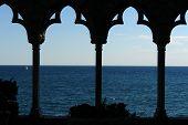 Blick auf den Atlantik von Hammond-Burg