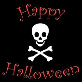 Happy Halloween Skull & Crossbones