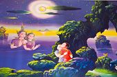 Traditional Thai Art With Stories About The Buddha ...