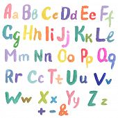 Watercolor Alphabet poster