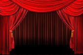 Red On Stage Theater Drapes