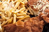 Cordon Bleu With Fries And Cheese