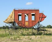 picture of stagecoach  - vintage western stage coach - JPG
