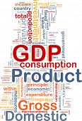 Background concept wordcloud illustration of GDP