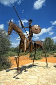 Statue Of Don Quixote, La Mancha (spain)