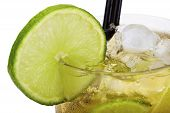 Lime Slice On Caipirinha