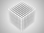 Transparent Spheres Or Beads Cube Shape