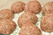 Close Up Of Meatballs Ready To Be Cooked