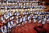 student symphonic band performance