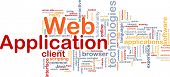 Background concept wordcloud illustration of web application
