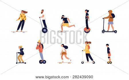 Collection Of People Riding Skateboard