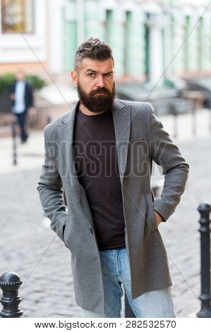 Man Bearded Hipster Casual Style