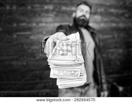 Guy Mafia Dealer With Cash