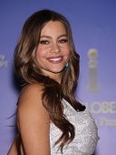 LOS ANGELES - DEC 14:  Sofia Vergara announcing the Golden Globe Awards 2012 Nominations  on Decembe