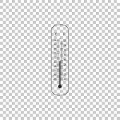 Celsius And Fahrenheit Meteorology Thermometers Measuring Heat And Cold Icon Isolated On Transparent poster