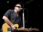 CLARK, NJ - SEPT 18: Lead guitar player Jim Babjak of the band The Smithereens performs at the Union