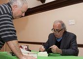 HOBOKEN-DEC 8: American writer Jim Fusilli signs his latest novel