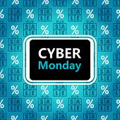 Cyber Monday Sale Banner In Contrast Colors poster