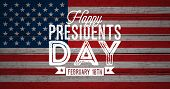 Happy Presidents Day Of The Usa Vector Illustration. Celebration Design With Flag And Typography Let poster