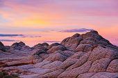 Vermilion Cliffs National Monument. Landscapes at sunrise. Unusual mountains landscape. Beautiful na poster