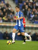 BARCELONA - JAN 24: The Argentinian player Osvaldo of Espanyol during the Spanish League match again