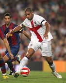 BARCELONA - AUG 29: Brazilian footballer Adriano Leite during a friendly match between FC Barcelona