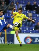BARCELONA - MARCH 7: Joseba Llorente   of Villareal during a Spanish League match between Espanyol a