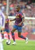 BARCELONA, SPAIN - MAY 16: Eric Abidal of Barcelona during a Spanish League match between FC Barcelo