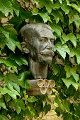 BARCELONA - MAY 27: Bust Statue of modern Olympic Games father Baron Pierre de Coubertin, at the Mus