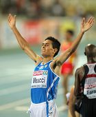 BARCELONA, SPAIN - JULY 27: Daniele Meucci of Italy celebrates bronze on Men 10000m final during the