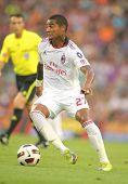 BARCELONA - 25 de agosto: Kevin-Prince Boateng jogador do AC Milan durante m do troféu Joan Gamper