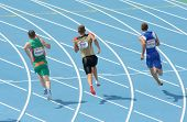 BARCELONA, SPAIN - JULY 29: Competitors of 200m Men of the 20th European Athletics Championships at