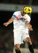 BARCELONA - OCT 30: Frederic Kanoute of Sevilla in action during spanish league match between FC Bar