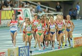 BARCELONA - AUG 1: Competitors of 5000m Women of the 20th European Athletics Championships at the Ol
