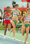BARCELONA - AUG 1: Sara Moreira of Portugal during 5000m women Final of the 20th European Athletics