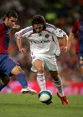 BARCELONA - AUG 22: Peruvian player of Bayern Munich Claudio Pizarro during a friendly match between Bayern Munich and FC Barcelona at the Nou Camp Stadium on August 22, 2006 in Barcelona, Spain