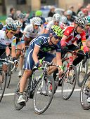 BARCELONA - MARCH 27: Movistar Team's cyclist Jose Joaquin Rojas rides with the pack during the Tour