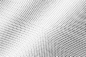 Black And White Halftone Vector Texture. Contrast Dotted Gradient. Grunge Dotwork Surface. Vintage E poster